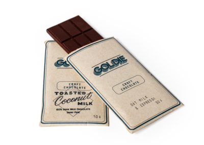 Craft Chocolate Bars by Goldie