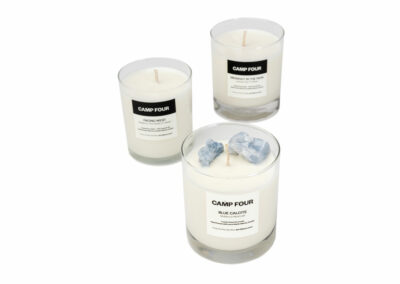 Scented and Crystal-Infused Soy Candles